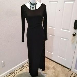 Forever 21 black maxi slit dress size medium